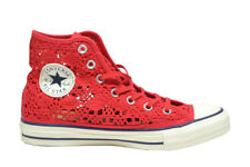 CONVERSE All star sneakers alte corallo crochet scarpe donna ragazza  mod. 55299