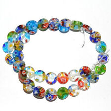 50/100Pcs Wholesale Assorted Mixed Flat Round Millefiori Loose Spacer Beads 6MM