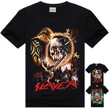 T-shirt Slayer Rock Band Maglietta maniche corte uomo Mens t-shirt tee Slayer01