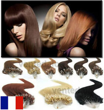 50 100 EXTENSIONS DE CHEVEUX POSE A FROID EASY LOOP 100% NATURELS REMY 53CM AAA