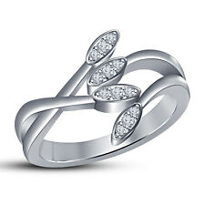White Platinum Plated 925 SterlingSilver White CZ Three Stone Style Women's Ring