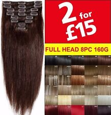 "18"" and 22"" Hair Extensions Real Thick Clip In Long Straight Full Head Hair"