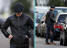 David Beckham Mens GENUINE quilted leather bomber jacket-BNWT