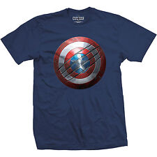 Official Unisex MARVEL CAPTAIN AMERICA CIVIL WAR Clawed Shield T Shirt