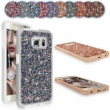 For Samsung Galaxy S6 Luxury Bling Diamond Crystal Hard Back Phone Case Cover