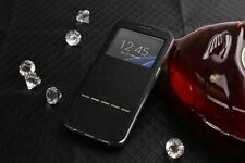 Smart Front Window View Flip PU Leather Case Cover For Samsung Galaxy S7 Edge
