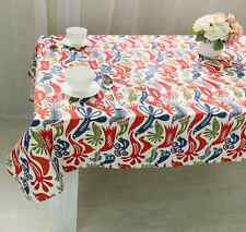 Elegant Chinese Bird Colorful Dinning Coffee Table 100% Cotton Cloth Covering O