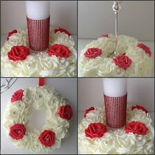 Large Wedding Table Centrepiece Door Wreath Rose Candle Ring *CHOICE OF COLOURS*