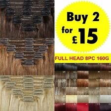 Hair Extensions Full Head New Fashion Long Straight Brown Blonde Clip in Hair