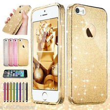 iPhone 5S 6S Plus Premium Shining Ultra-Thin ShockProof Hard Back TPU Case Cover