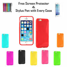 S-Line Soft Silicone Gel Jelly Grip Tpu Case Cover For Apple iPhone 6 Plus UK