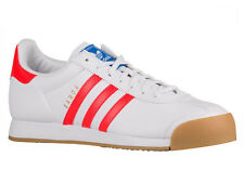 NEW MENS ADIDAS ORIGINALS SAMOA CASUAL SHOES LEATHER TRAINERS WHITE / SOLAR