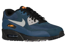NEW MENS NIKE AIR MAX 90 RUNNING SHOES TRAINERS SQUADRON BLUE / BLACK / BRI