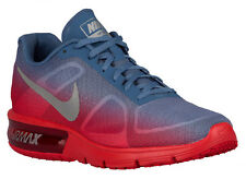 NEW MENS NIKE AIR MAX SEQUENT RUNNING SHOES TRAINERS UNIVERSITY RED / OCEAN