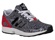 NEW MENS ADIDAS ORIGINALS ZX FLUX RUNNING SHOES TRAINERS WHITE / BLACK / TO