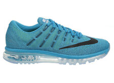 NEW MENS NIKE AIR MAX 2016 RUNNING SHOES TRAINERS BLUE LAGOON / BRAVE BLUE