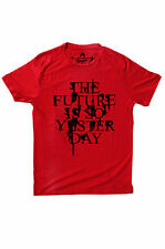 Branded REd  Printed Round Neck  Export Surplus T Shirt For Men/Boys