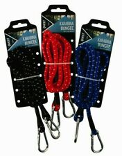 KARABINA BUNGEE STRAPS 150CM ELASTIC STRAP WITH SNAP SPRING CLIP CLIPS CORD TIE