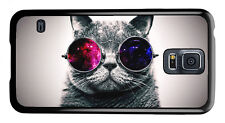 Nebula Glasses Cat Cool Phone Case Cover for Samsung Galaxy #0010