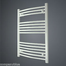 600mm Wide 800mm High Straight White Heated Towel Rail Radiator Bathroom Warmer