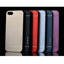 CZap Full Metal Motomo Back Case Hard Cover for Apple iPhone 5 / 5S / SE