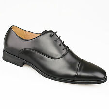 Hombre Negro Traje Formal Inteligentes Boda Punta Tope Zapatos Oxford 6 - 12