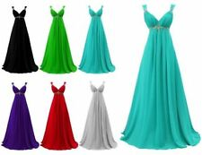 Stock Chiffon Prom Dress Evening Dress Wedding Party Dress Prom Ball Gown Dress