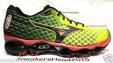 MIZUNO WAVE PROPHECY 4 MEN'S RUNNING TRAINING SHOES SAFETY YELLOW/RED/BLACK
