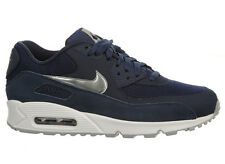 NEW MENS NIKE AIR MAX 90 RUNNING SHOES TRAINERS MIDNIGHT NAVY / WHITE / WOL