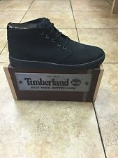Men's Shoes Timberland Groveton Leather and Fabric Chukka 6743A Black *New*