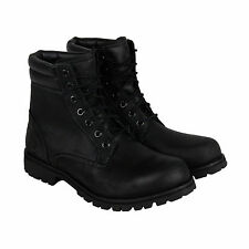 Timberland Foraker 6 Inch Mens Black Leather Casual Dress Lace Up Boots Sho