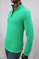 """POLO by Ralph Lauren Half Zip Cotton Sweater~ """"Cabo Green"""" ~NWT~"""