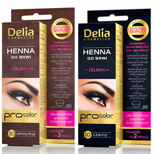 DELIA   EYEBROWS TINT GEL  HENNA BROWN /BLACK