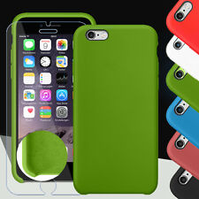Silikon Case Cover Schutz Hülle Bumper für Apple iPhone 6, 6 Plus + Panzerglas