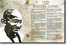The Wisdom of... MAHATMA GANDHI - Poster Art Print Photo Gift Motivation