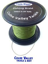 Pike fishing  braid  30lb  slow sinking  300-1000m green colne valley tackle
