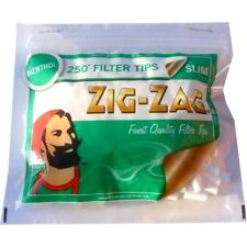 Zig Zag Filter Tips Slim Menthol 250 in a Bag Quantities Available
