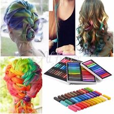 DIY Craie De Cheveux Coloration 6/12/24/36 Set Non-Toxique Salon Rapide Couleurs