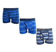Crosshatch Men's Boys Pack of 3 Belinda Boxer Shorts Trunks Briefs Underwear