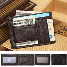 Mens Womens Credit Card Holder Case Pu Slim Bag Wallet With Magnetic Money Clip