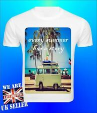 Summer Palm Travel Story Vintage Retro Cool Men T shirt Peace Quote Love Beach