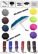LADIES 3 FOLD COLOUR UMBRELLA BRANDED POPY 3 FOLD UMBRELLA WITH SILVER COATING