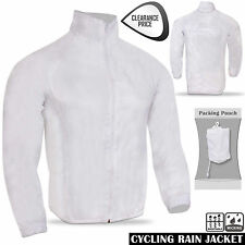 Cycling Rain Jacket Light-Weight Long Sleeve Outdoor Running Rain Coat White