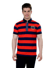 Paani Puri Clothing Embroidered Red Cotton Blended Men's T-Shirt _ 274