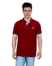 Paani Puri Clothing Woven Red Cotton Blended Men's T-Shirt _ 210