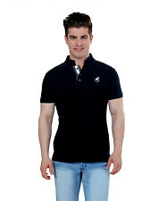 Paani Puri Clothing Embroidered Black Cotton Blended Men's T-Shirt _ 314