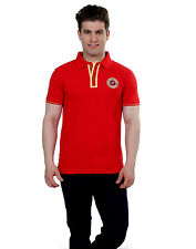 Paani Puri Clothing Embroidered Red Cotton Blended Men's T-Shirt _ MROTE215