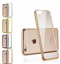 Shockproof Chrome Silicone Clear Bumper Gel Case Cover For iPhone 6S/ 6S Plus
