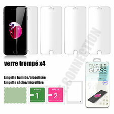 Lot/4 VERRE Trempé vitre iphone SE/4/5/6/S/PLUS film protecteur écran protection