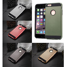 Slim Tough Armour Brushed Dual Layer Protect Cover for iPhone Samsung LG Huawei